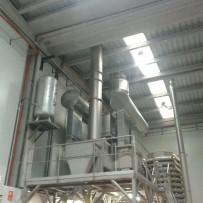 Sistema de ventilación en planta de frutos secos en Riudoms (Tarragona)