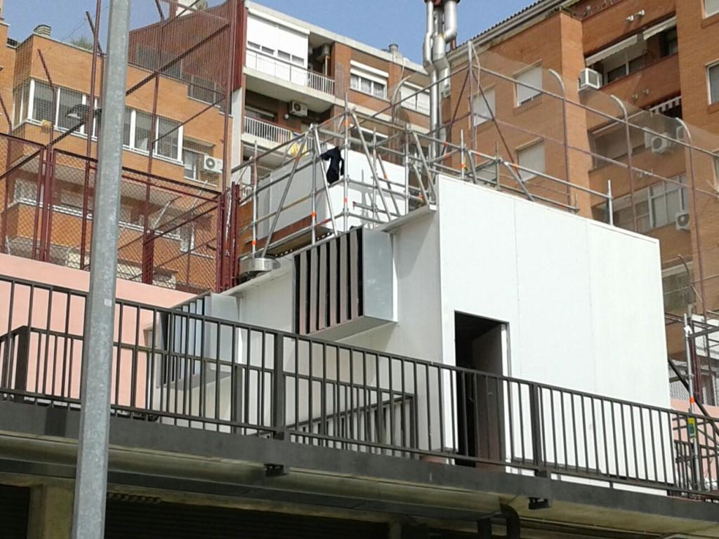 Cerramiento acústico equipo climatización